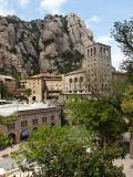 The Santa Maria De Montserrat  Benedictine Abbey on Montserrat Mountain