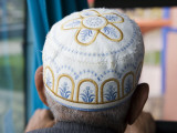 Man Wearing Arabic Cap