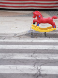 Plastic Rocking Horse in Front of Toy Stall   Gallipoli