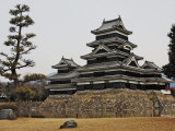 Matsumoto Castle with Moat and Stone Work