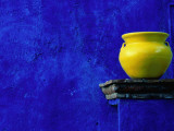 Yellow Pot and Blue Wall