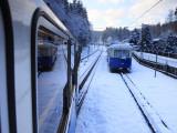 Cogwheel Railway Ascending Zugspitze  Bavarian Alps