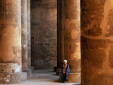 Huge Pillars of the Temple of Khnum in Esna (Isna)
