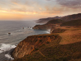 Bixby Bridge Seen from Hurricane Point Along the Big Sur Coastline