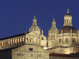 Jesuit Church La Clerecia and University (Universidad) Pontificia Floodlit at Night