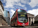 Double-Decker Bus in Threadneedle Street  Centre of the Finacial District