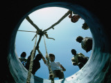 Locals Look Down the Newly Completed Well in St Louis