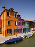 Colorful Houses and Boats on Canal