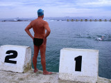 Swimmers at Merewether Ocean Baths