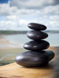 Hot Stones Spa Treatment at St Brides Hotel and Spa with Saundersfoot Beach in Background