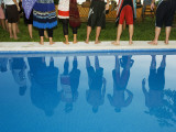 Reflections in the Pool  at Poolside New Year Celebration