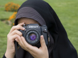 Iranian Girl with Camera