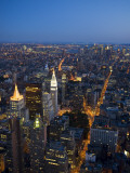 Manhattan from Empire State Building Observation Deck at Dusk