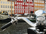 Reflections on Vespa of Colorful Facades and Street Cafes of Christianshavn