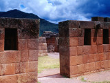 Inca Ruins with Andes Behind