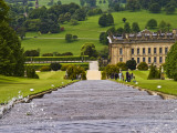 Looking Down the Elaborate Fountain at Chatsworth House