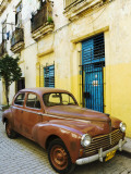 Vintage Car Parked Outside House in Vieja District
