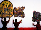 Performance of Nang Yai (Large Shadow Puppets) at Wat Khanon Temple