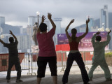 People Doing their Morning Tai Chi  Tsim Sha Tsui