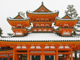 Main Heian Shrine Building under Snow