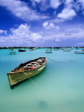 Fishing Boats Anchored in Lagoon