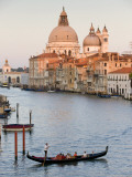 Chiesa Di Santa Maria Della Salute and Gondola from Accademia