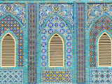 Tiling around Shuttered Windows  Shrine of Hazrat Ali
