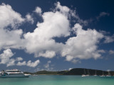 Boats Moored at Whitehaven Beach on Whitsunday Island