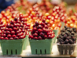 Cherry and Blackberry Punnets at Granville Island Public Market on Johnston St  Granville Island