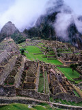 Fog Above Terraced Inca Ruins