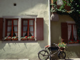 A Bicycle Leans Against the Wall in the Medieval Town of Rothenburg Ob Der Tauber