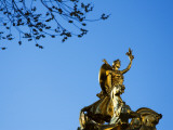 Golden Statue on Corner of Central Park Near Columbus Circle
