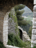 Perimeter Walls of Berat Castle and Valley Below