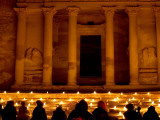 Treasury Lit Up by Hundreds of Lanterns During 'Petra at Night
