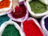 Coloured Sawdust at Solola Sunday Market