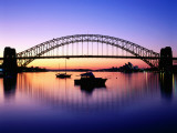 Harbour Bridge at Dawn  Seen from Blue Point  Boats in Foreground are Moored at Lavender Bay