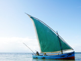 Dhow Sailing Off Coast of Vilanculos