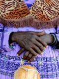Folded Hands of Herero Woman in Traditional Dress