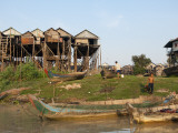 Stilted Houses in Village on Tonle Sap Lake
