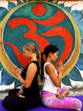 Yoga Practitioners Meditating in Lotus Pose