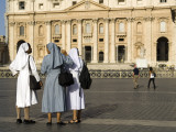 Nuns with St Peter&#39;s in Background
