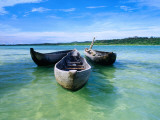 Pirogues (Dugout Canoe) in Nosy Nato  a Small Island Joined to Ile Sainte Marie (Nosy Boraha)