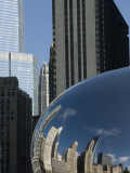 Skyline Reflected in Cloudgate  also known as 'The Bean'