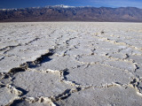 Salt Plates with Panamint Range in Distance  Death Valley  Californi