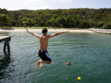 Jumping of Wharf at Chowder Bay