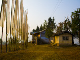 Peasant Farm and Prayer Flags