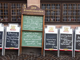 Menu Boards Outside Restaurants on Romerberg  the Old Central Square