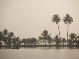 Backwater Between Alappuzha and Kottayam in the Morning Mist