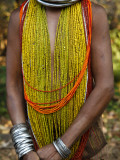 Details from Traditional Dress of Tribal Bonda Woman