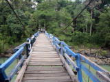 Wooden Swing Bridge at Dray Sap Waterfall